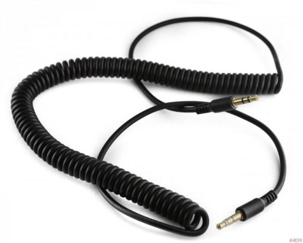 Ersatz Spiralkabel für 7even Headphone schwarz