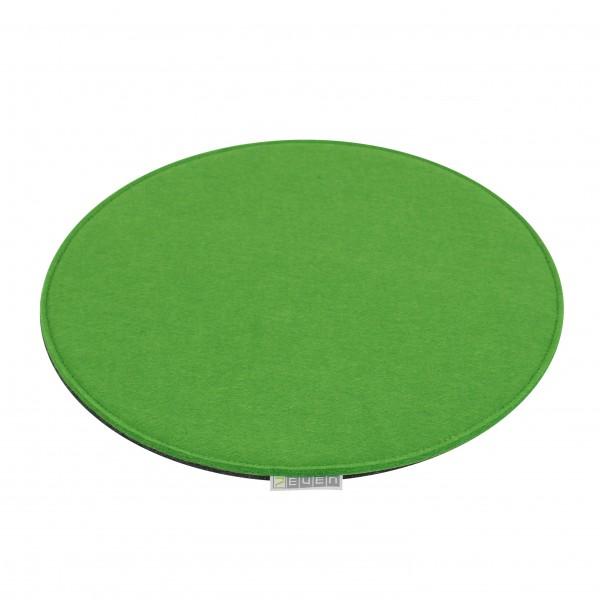 Filz Auflage 33 cm Rund Grau/Grün - Beidseitig 4mm/4mm - Kreisförmige Filzmatte 8mm Stark