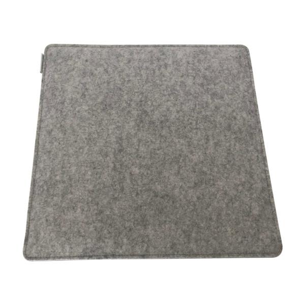 Filz Auflage 40 x 40cm grau/dunkelgrau gefüttert