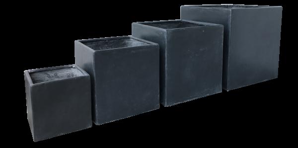 Moderne Gartengestaltung - mit dem Premium Pflanzkübel Set - Lounge Cube Pot Set Beton Vintage outdoor von 7EVEN | 4 exklusive & hochwertige Pflanzgefäße für Garten, Terrasse, Balkon, Wintergarten