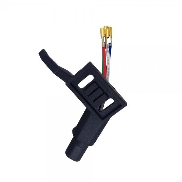 Headshell kurz ADC Norm schwarz Systemträger passend für Plattenspieler mit geradem Tonarm