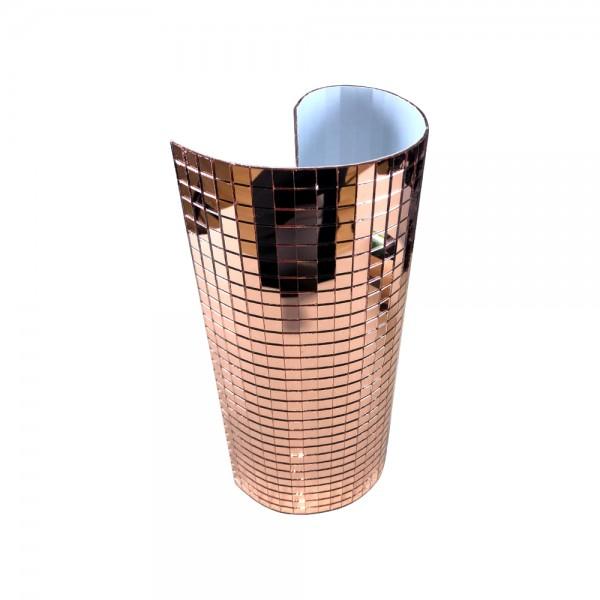 Spiegelmatten 10mm Mosaik Facetten in der Größe 30 x 30cm Kupfer zum Aufkleben Mirrorpanel
