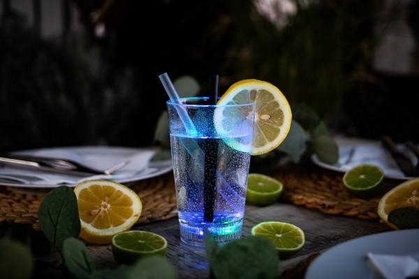 Softdrink / Cola LED-Leuchtglas zur Dekoration (1 Stück)