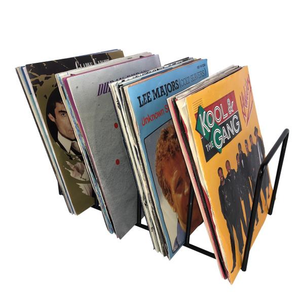 """Schallplatten 7"""" Single Ständer schwarz / Vinyl Records 7"""" Tisch-Rack"""
